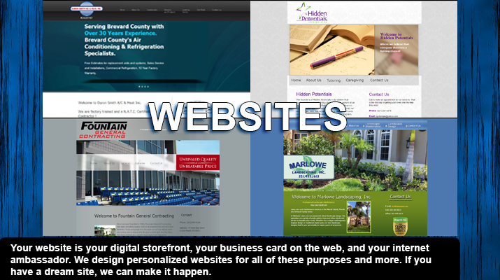 We offer custom built websites