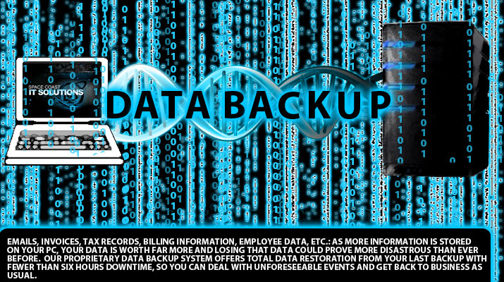 We offer data protection though data backup